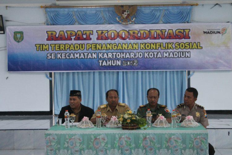 Kecamatan Kartoharjo Kota Madiun Siapkan Penanganan Konflik Melalui Rakor 3 Pilar